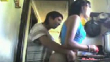 Live in relationship couple Early Morning Sex In the Kitchen