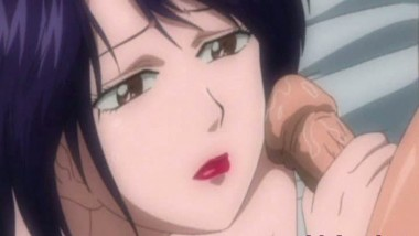 Brunette anime Facial