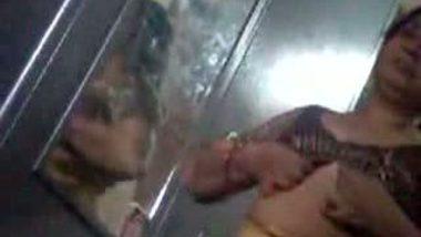 Desi Telugu Aunty Blouse Change Video
