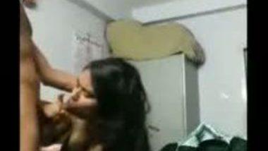 South Indian gf Asha's irresistible blowjob to lover