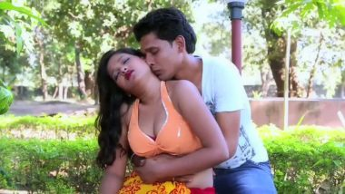 Desi masala outdoor smooch and sex scene