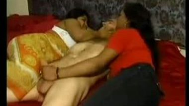 Threesome sex with two Indian sluts in hotel room