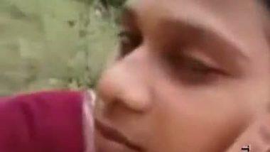 Village school teen's outdoor romance clip