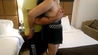 Hot ass and boobs pressing moment of a fair bhabhi