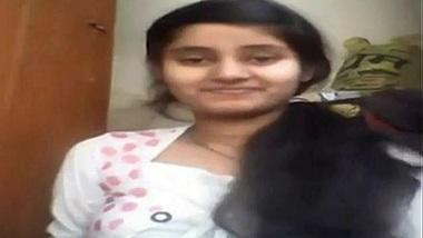 cute girl fondles boobs on webcam
