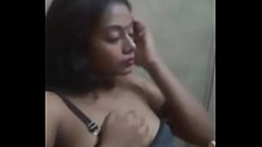 Sexy Telugu girl touching herself watching porn