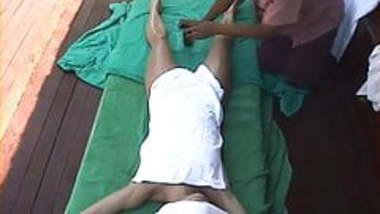 Hidden cam Bali Female Tourist gets a happy ending massage