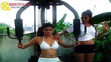 Indian Desi Girl Sexy Workout In Rain-HD