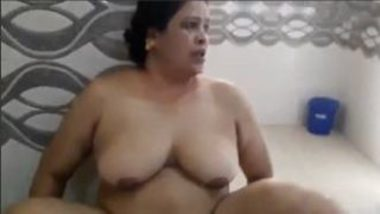 Mature Indian BBW Giving Blowjob To Son's Friend