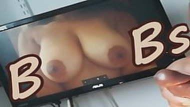 Big Indian boobs get a huge cum tribute