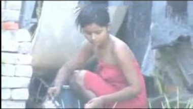 Desi Village Wife Caught Bathing Outdoor
